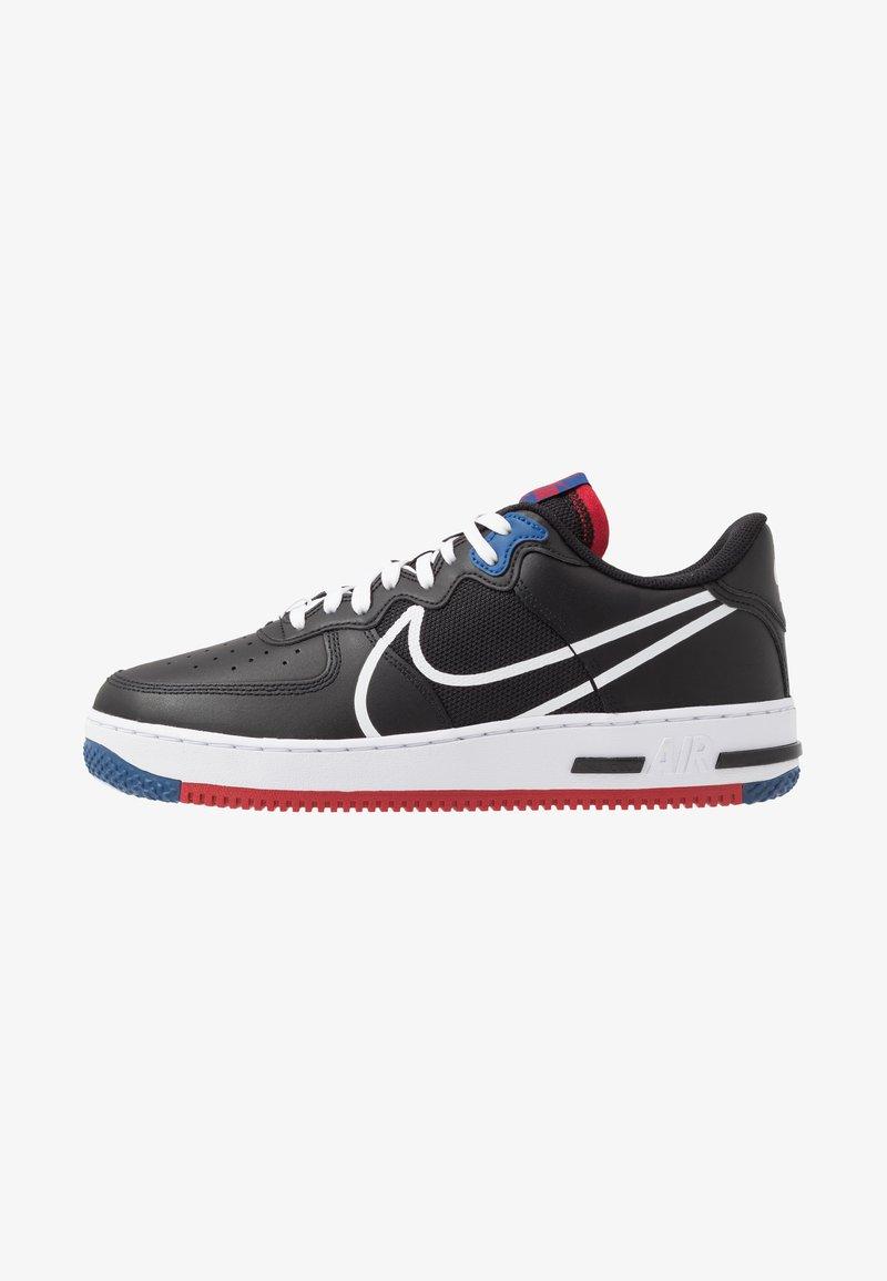 Nike Sportswear - AIR FORCE 1 REACT - Trainers - black/dark smoke grey/laser crimson/voltage purple/hyper crimson/aurora green