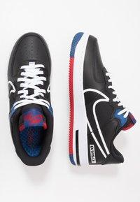 Nike Sportswear - AIR FORCE 1 REACT - Trainers - black/dark smoke grey/laser crimson/voltage purple/hyper crimson/aurora green - 1