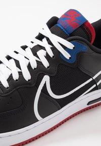 Nike Sportswear - AIR FORCE 1 REACT - Trainers - black/dark smoke grey/laser crimson/voltage purple/hyper crimson/aurora green - 5
