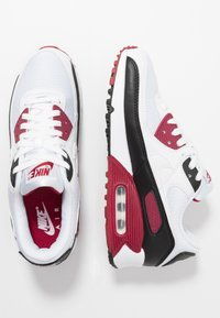 Nike Sportswear - AIR MAX 90 - Sneakers laag - white/chile red/black - 1
