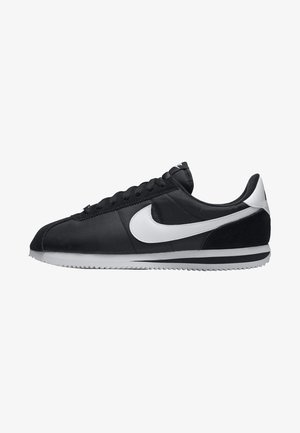 CORTEZ - Trainers - black/metallic silver/white