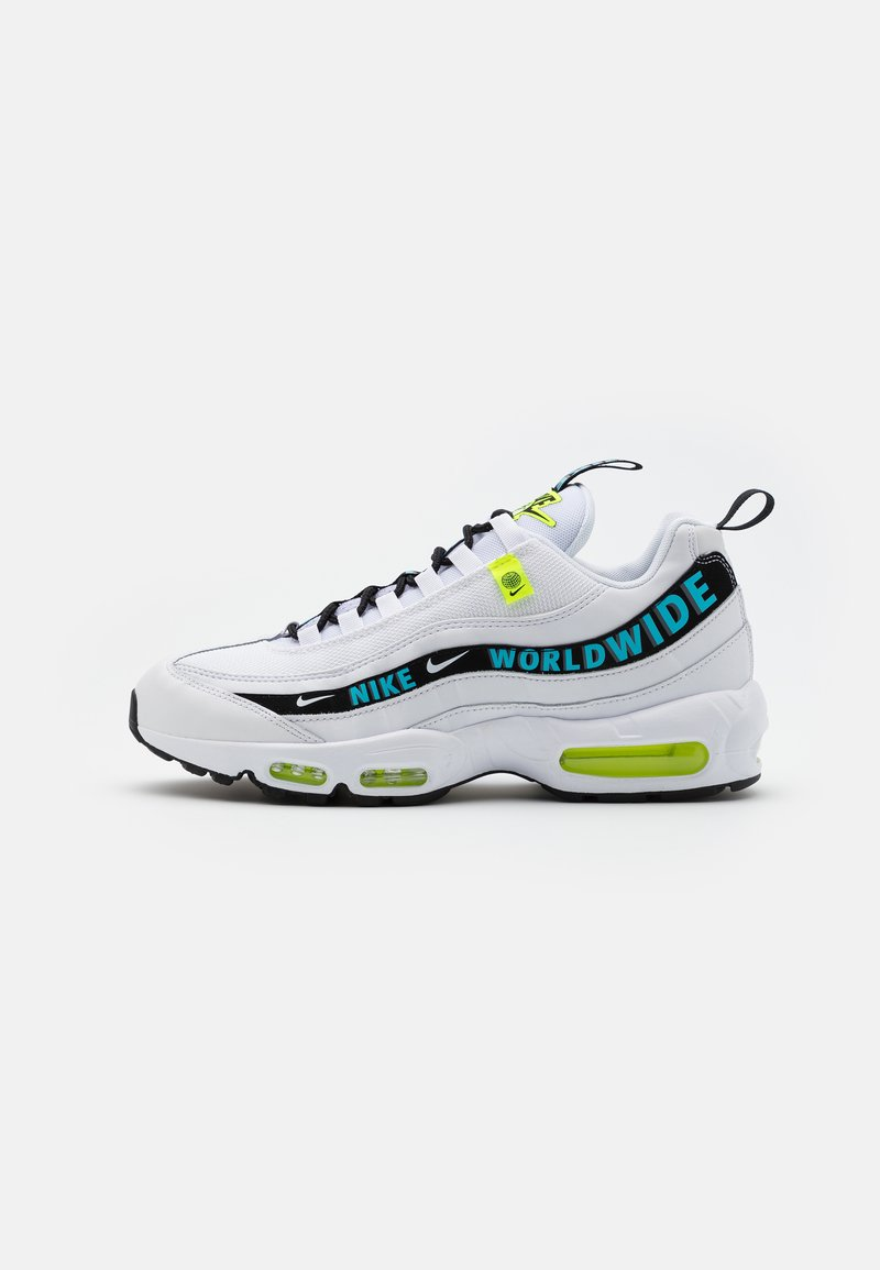 Nike Sportswear - AIR MAX 95 - Sneakersy niskie - white/blue fury/volt/black