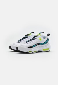 Nike Sportswear - AIR MAX 95 - Sneakersy niskie - white/blue fury/volt/black - 1