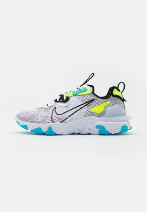 REACT VISION - Sneakersy niskie - white/black/volt/blue fury