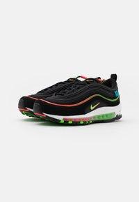 Nike Sportswear - AIR MAX 97 UNISEX - Sneakers laag - black/green strike/flash crimson/white/off noir/blue fury - 1