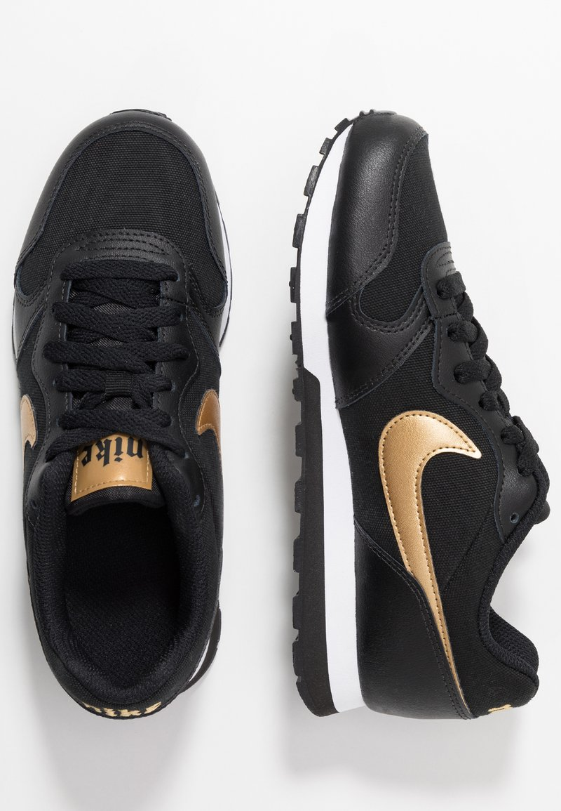Nike Sportswear - MD RUNNER 2 - Zapatillas - black/metallic gold/white