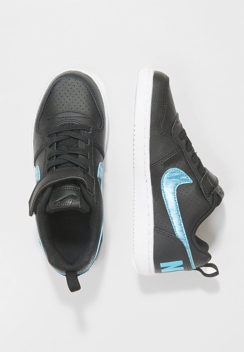 Nike Sportswear - COURT BOROUGH LOW - Sneaker low - black/light current blue/white
