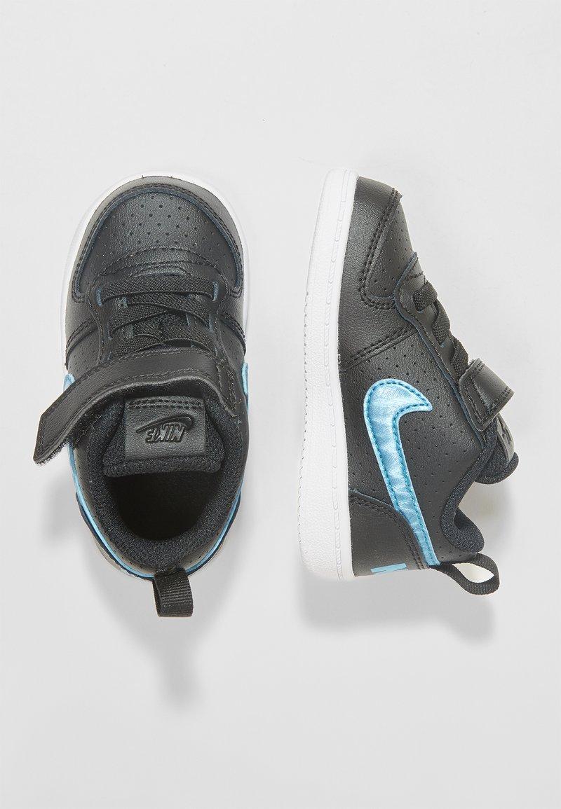 Nike Sportswear - COURT BOROUGH LOW - Lauflernschuh - black/light current blue/white