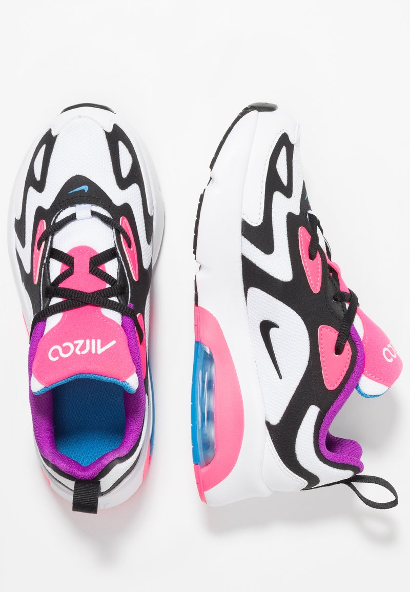 Nike Sportswear - AIR MAX 200 - Matalavartiset tennarit - white/black/hyper pink/photo blue