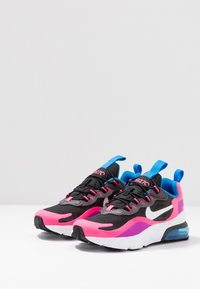 Nike Sportswear - AIR MAX 270 REACT - Mocassins - black/white/hyper pink/vivid purple - 3