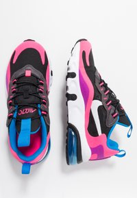Nike Sportswear - AIR MAX 270 REACT - Mocassins - black/white/hyper pink/vivid purple - 0