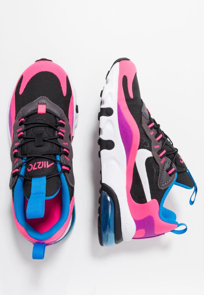Nike Sportswear - AIR MAX 270 REACT - Scarpe senza lacci - black/white/hyper pink/vivid purple