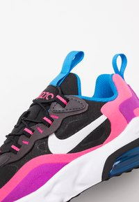 Nike Sportswear - AIR MAX 270 REACT - Mocassins - black/white/hyper pink/vivid purple - 2