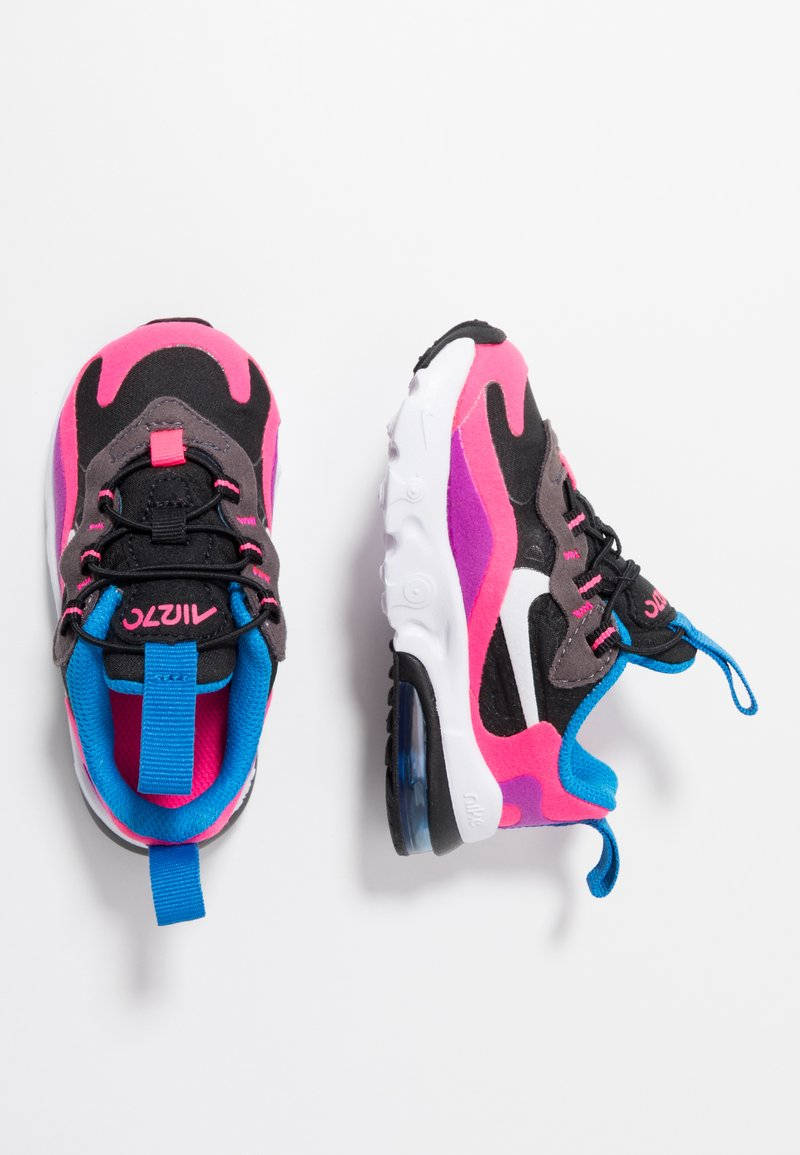 Nike Sportswear - AIR MAX 270 REACT - Sneakers laag - black/white/hyper pink/vivid purple