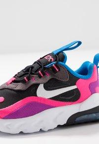 Nike Sportswear - AIR MAX 270 REACT - Zapatillas - black/white/hyper pink/vivid purple - 2