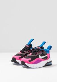 Nike Sportswear - AIR MAX 270 REACT - Zapatillas - black/white/hyper pink/vivid purple - 3