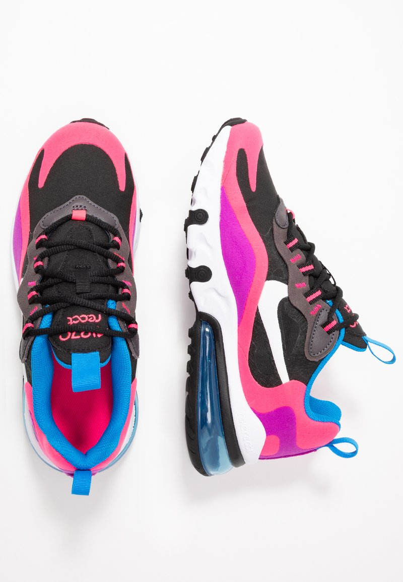 Nike Sportswear - AIR MAX 270 REACT - Sneaker low - black/white/hyper pink/vivid purple
