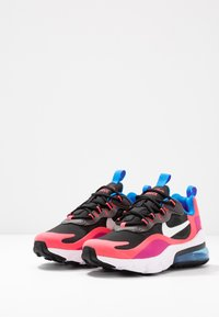 Nike Sportswear - AIR MAX 270 REACT - Sneaker low - black/white/hyper pink/vivid purple - 3
