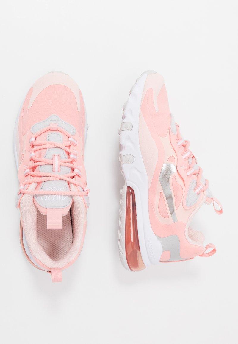 Nike Sportswear - AIR MAX 270 REACT GG GEL - Sneakersy niskie - bleached coral/white echo pink/vast grey/metallic silver