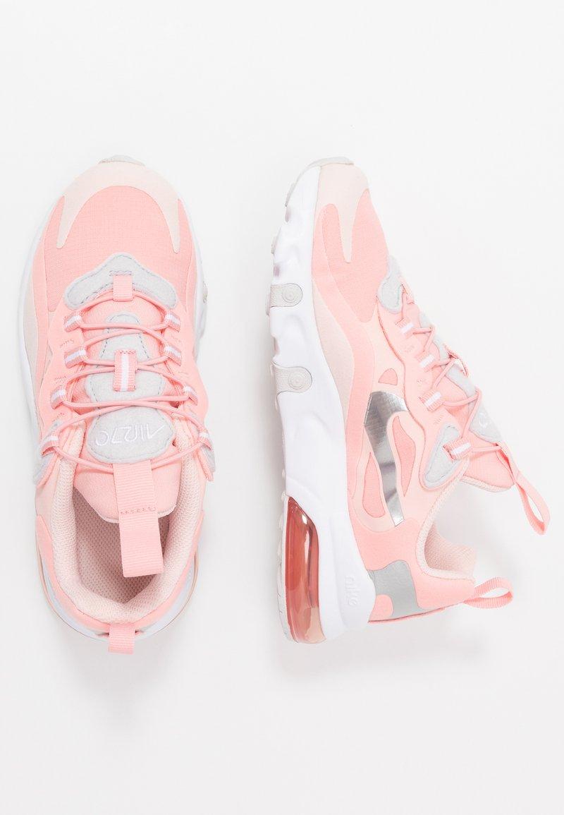 Nike Sportswear - AIR MAX 270 RT GP GEL - Loafers - bleached coral/metallic silver/white/echo pink/vast grey