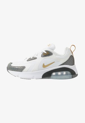 AIR MAX 200  - Trainers - white/metallic gold/cool grey/anthracite