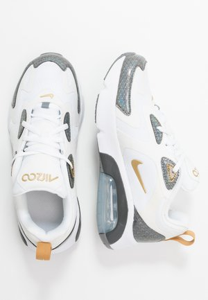 AIR MAX 200  - Sneakersy niskie - white/metallic gold/cool grey/anthracite