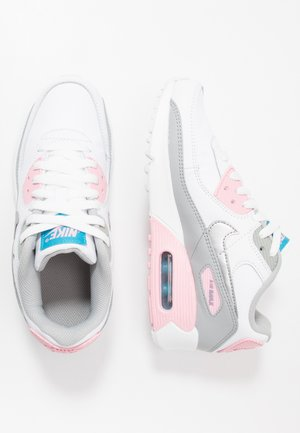AIR MAX 90 - Trainers - light smoke grey/metallic silver/white/pink