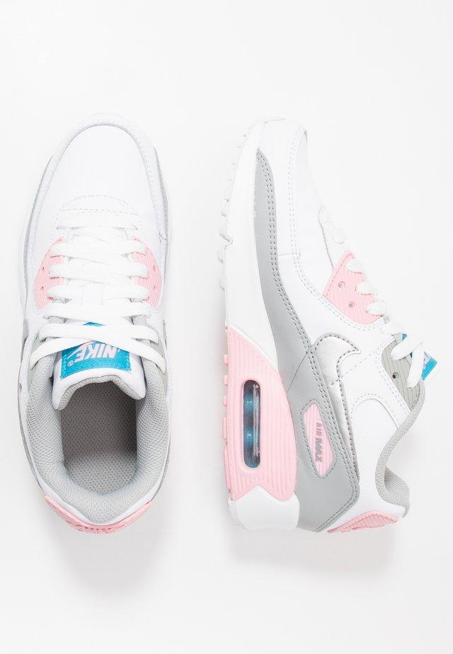 AIR MAX 90 - Tenisky - light smoke grey/metallic silver/white/pink