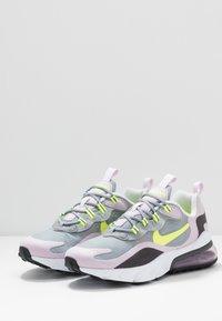 Nike Sportswear - AIR MAX 270 REACT  - Baskets basses - particle grey/lemon/iced lilac/off noir - 3