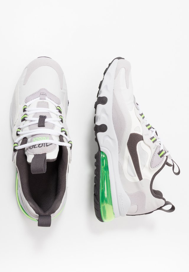 AIR MAX 270 REACT - Trainers - summit white/silver lilac/electric green/vast grey