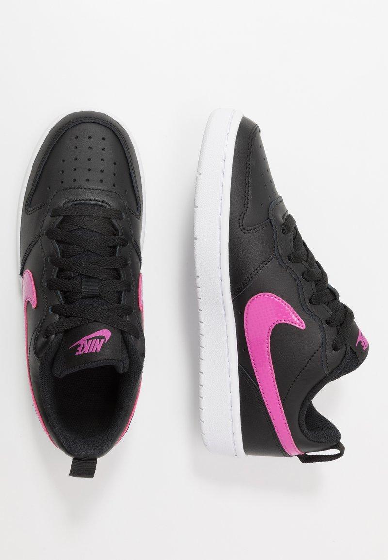 Nike Sportswear - COURT BOROUGH - Zapatillas - black/active fuchsia/white