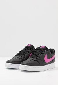 Nike Sportswear - COURT BOROUGH - Zapatillas - black/active fuchsia/white - 3