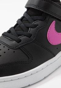 Nike Sportswear - COURT BOROUGH - Zapatillas - black/active fuchsia/white - 2