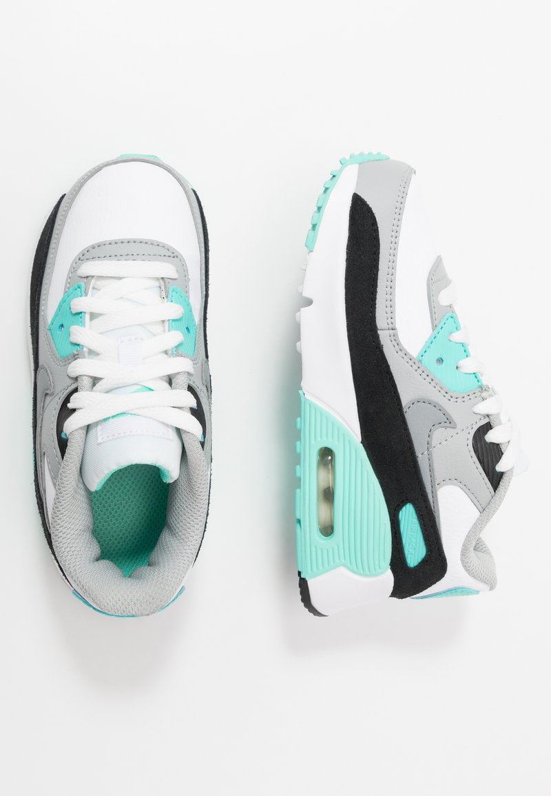 Nike Sportswear - AIR MAX 90 - Sneakers laag - white/particle grey/light smoke grey/hyper turquoise/black