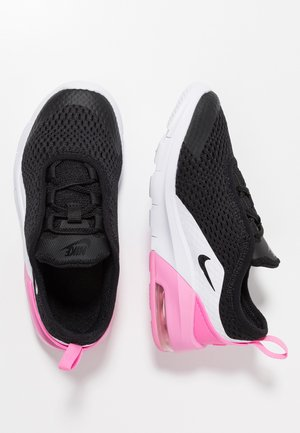 AIR MAX MOTION 2 - Lær-at-gå-sko - black/metallic silver/psychic pink/white