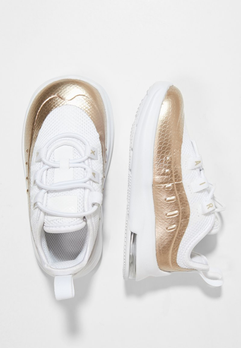 Nike Sportswear - AIR MAX AXIS - Baby shoes - white/blur/metallic silver