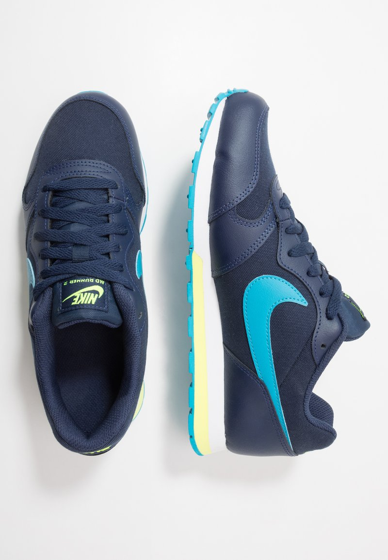 Nike Sportswear - MD RUNNER 2 - Tenisky - obsidian/voltage green/lucid green