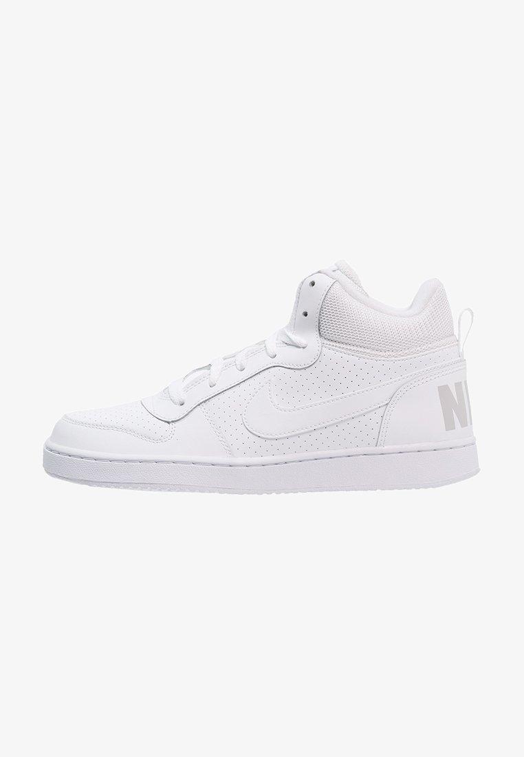 Nike Sportswear - COURT BOROUGH MID - Sneakers high - weiß/hellgrau