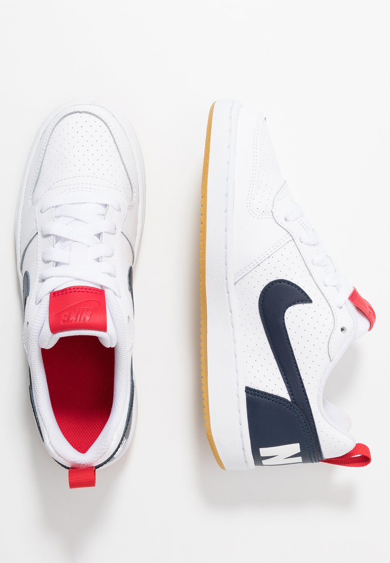 Nike Sportswear - COURT BOROUGH  - Sneakers - white/obsidian/university red