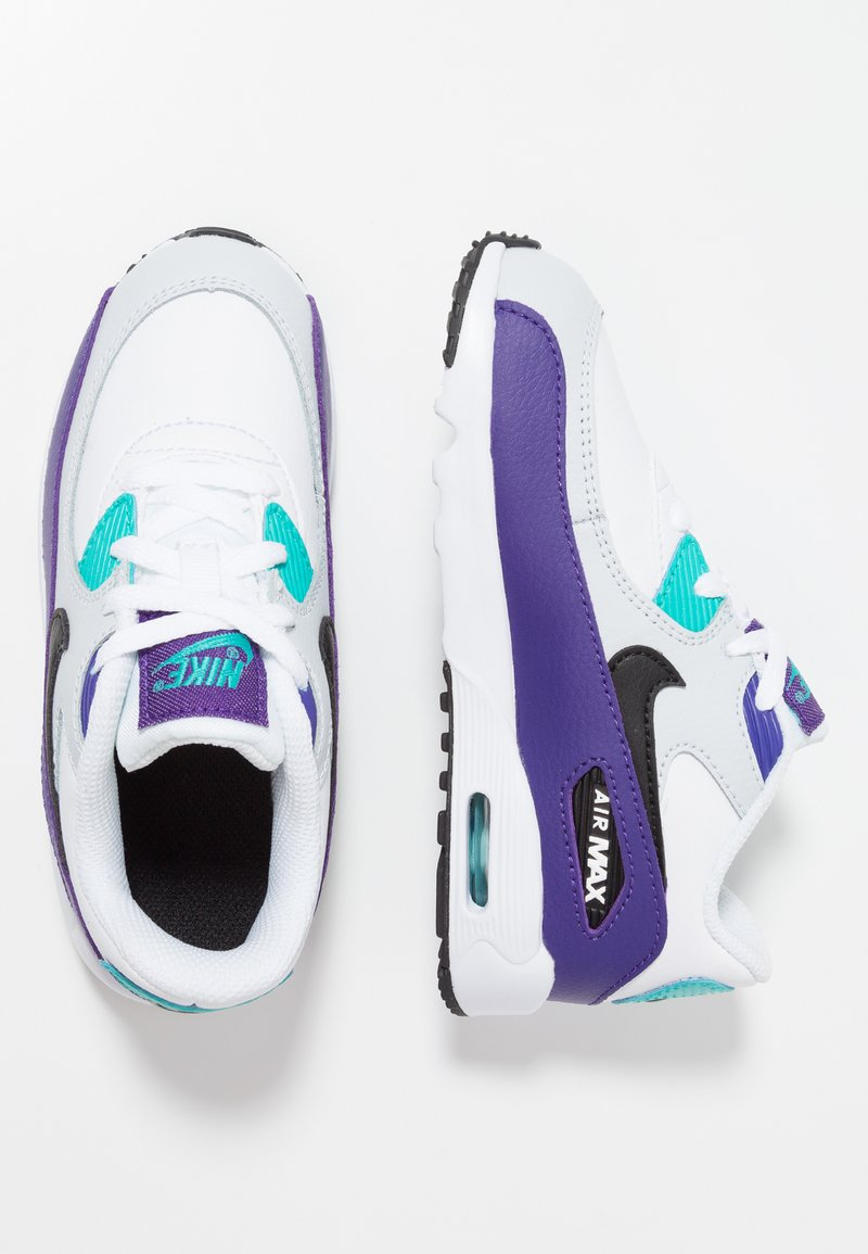 Nike Sportswear - AIR MAX 90  - Baskets basses - white/black/hyper jade/court purple/pure platinum