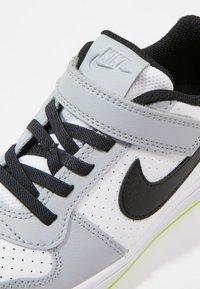 Nike Sportswear - COURT BOROUGH - Sneaker low - white/black/wolf grey/anthracite/volt - 2
