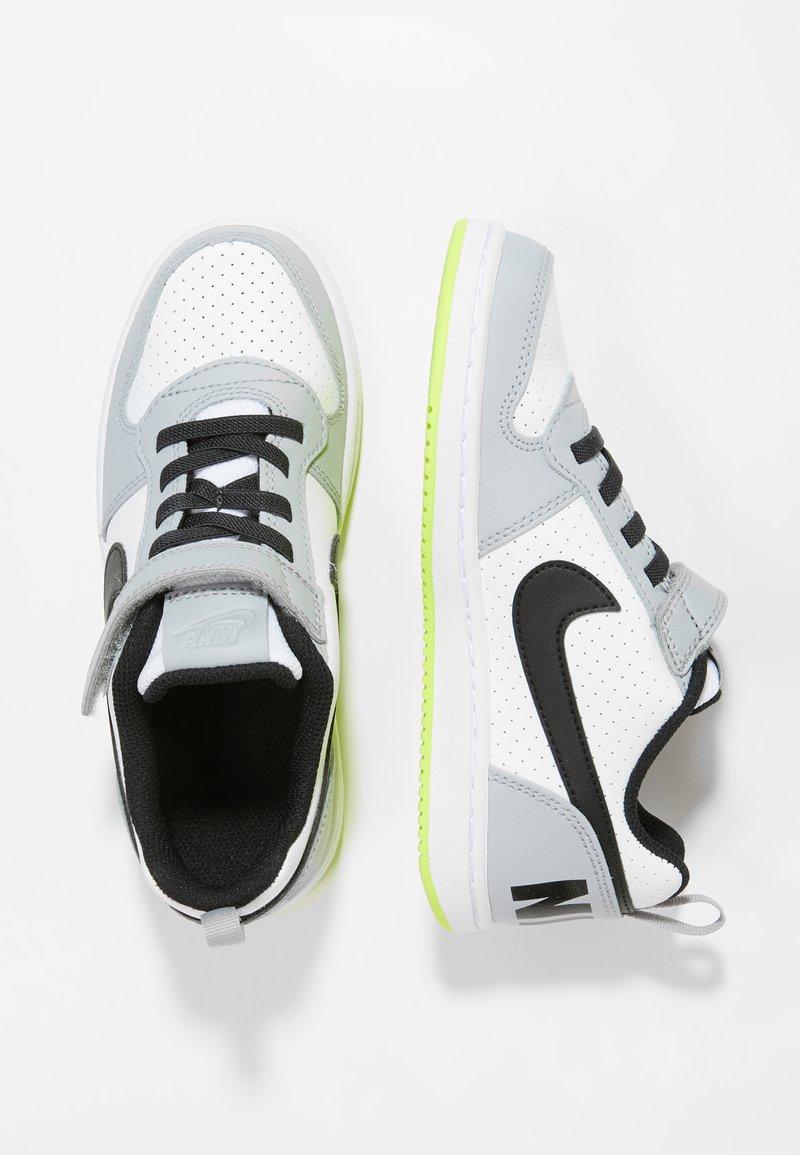 Nike Sportswear - COURT BOROUGH - Sneaker low - white/black/wolf grey/anthracite/volt