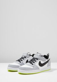 Nike Sportswear - COURT BOROUGH - Sneaker low - white/black/wolf grey/anthracite/volt - 3