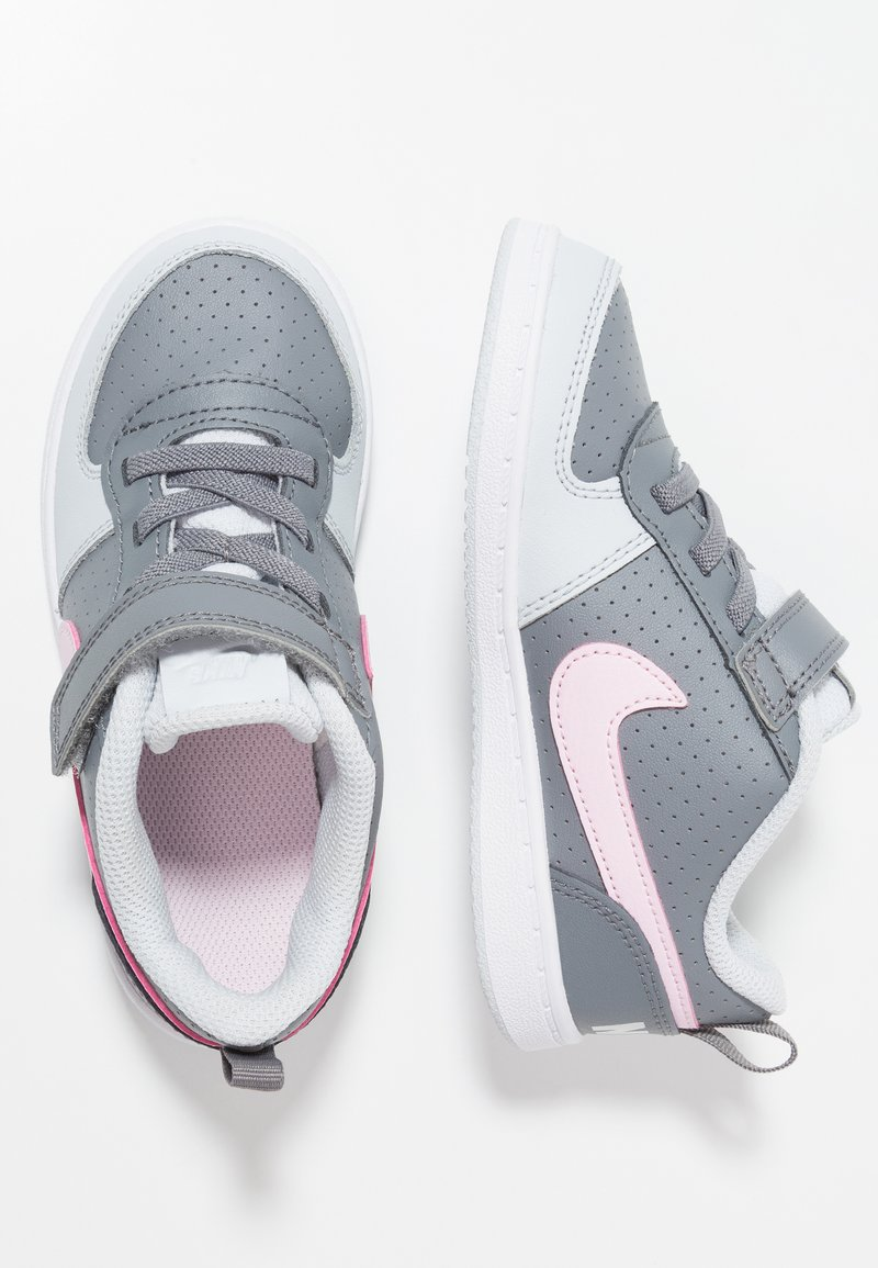 Nike Sportswear - NIKE COURT BOROUGH MID - Sneaker low - cool grey/pink foam/pure platinum