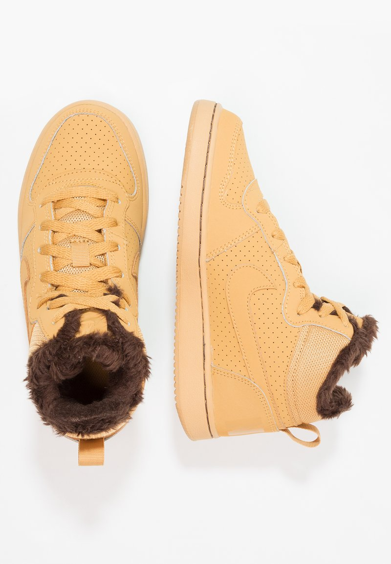 Nike Sportswear - COURT BOROUGH MID - Sneakers hoog - haystack/baroque brown