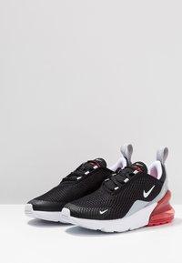 Nike Sportswear - AIR MAX 270  - Matalavartiset tennarit - black/white/ember glow/wolf grey - 3
