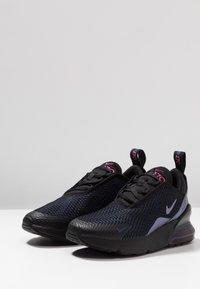 Nike Sportswear - AIR MAX 270  - Matalavartiset tennarit - black/laser fuchsia/regency purple/anthracite - 3