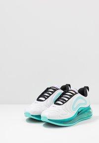 Nike Sportswear - AIR MAX 720 - Sneakers basse - white/black/aurora green/bright violet - 3