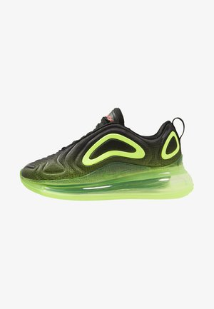 AIR MAX 720 - Sneakersy niskie - black/crimson/volt