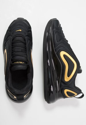 AIR MAX 720 - Baskets basses - black/mtetallic gold